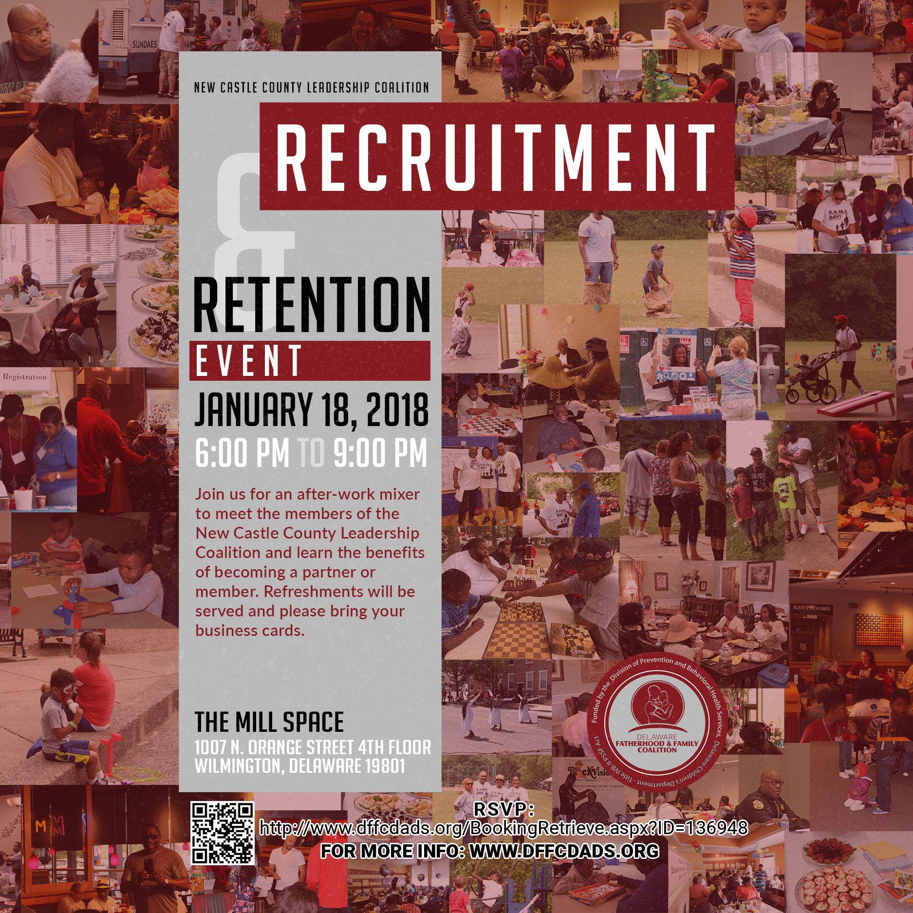 New Castle County Recruitment and Retention Event Flyer